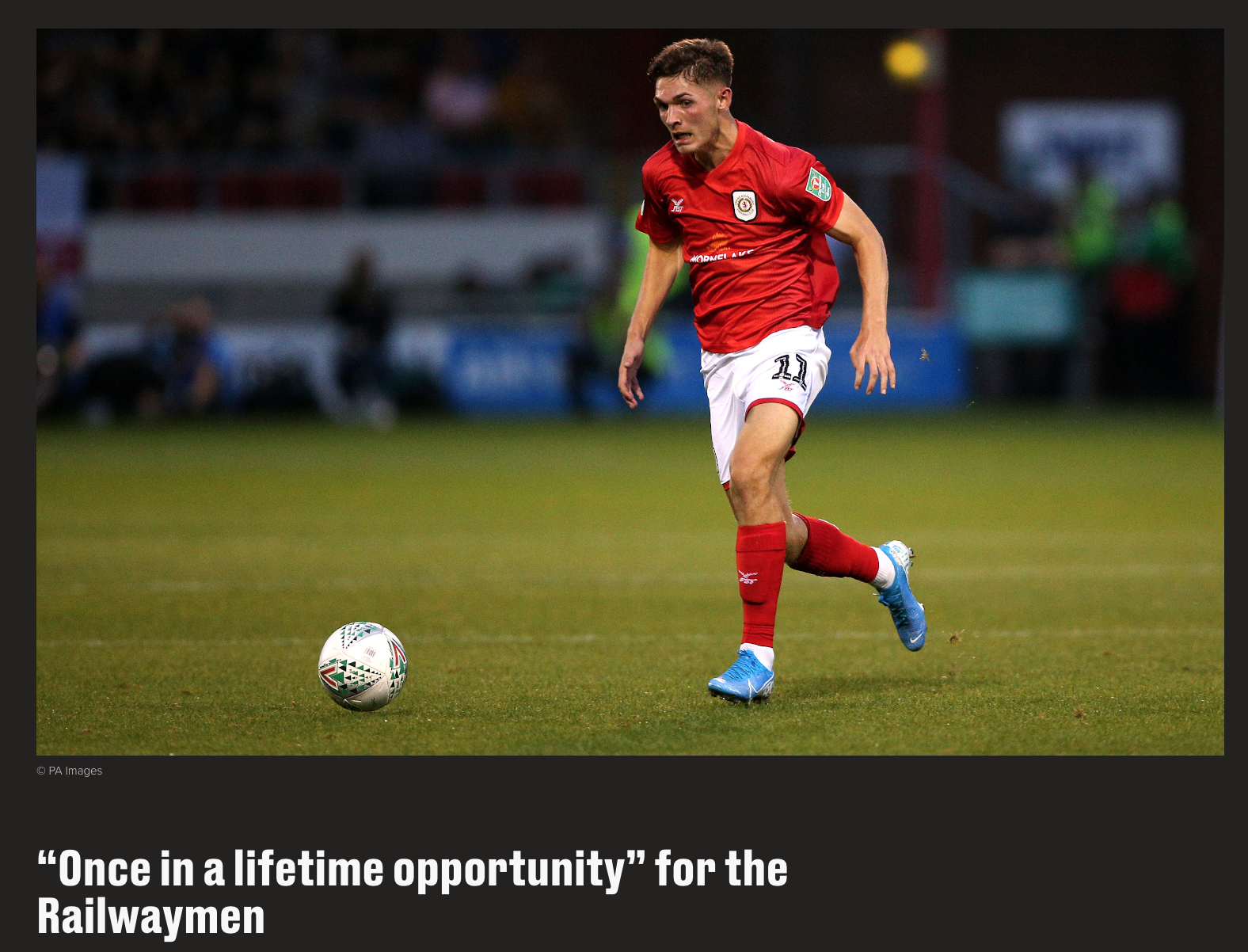 """Once in a lifetime opportunity"" for the Railwaymen"