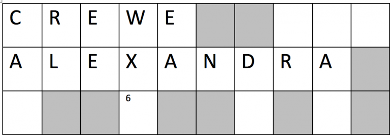 Crewe Alexandra Crossword