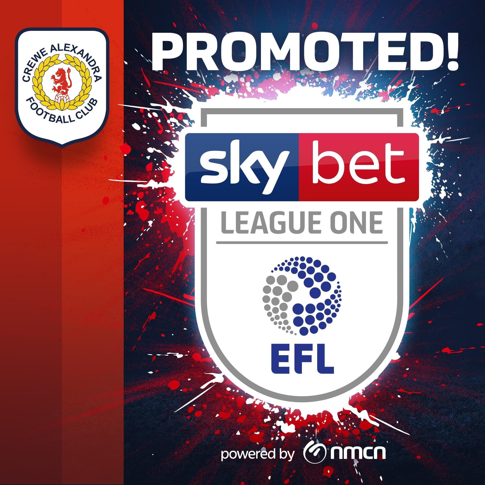 Promotion for Crewe Alexandra