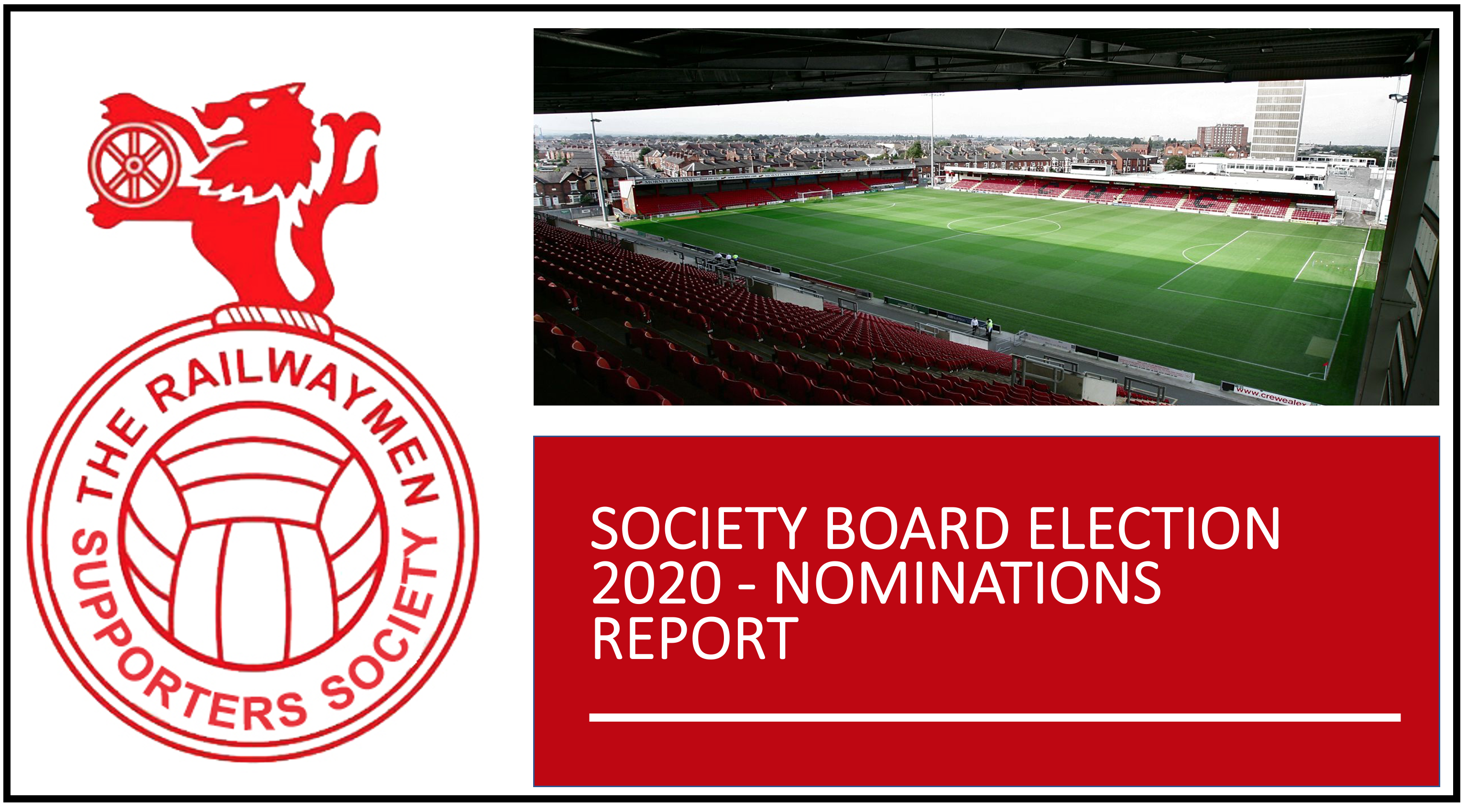 SOCIETY BOARD ELECTION 2020 – NOMINATIONS REPORT
