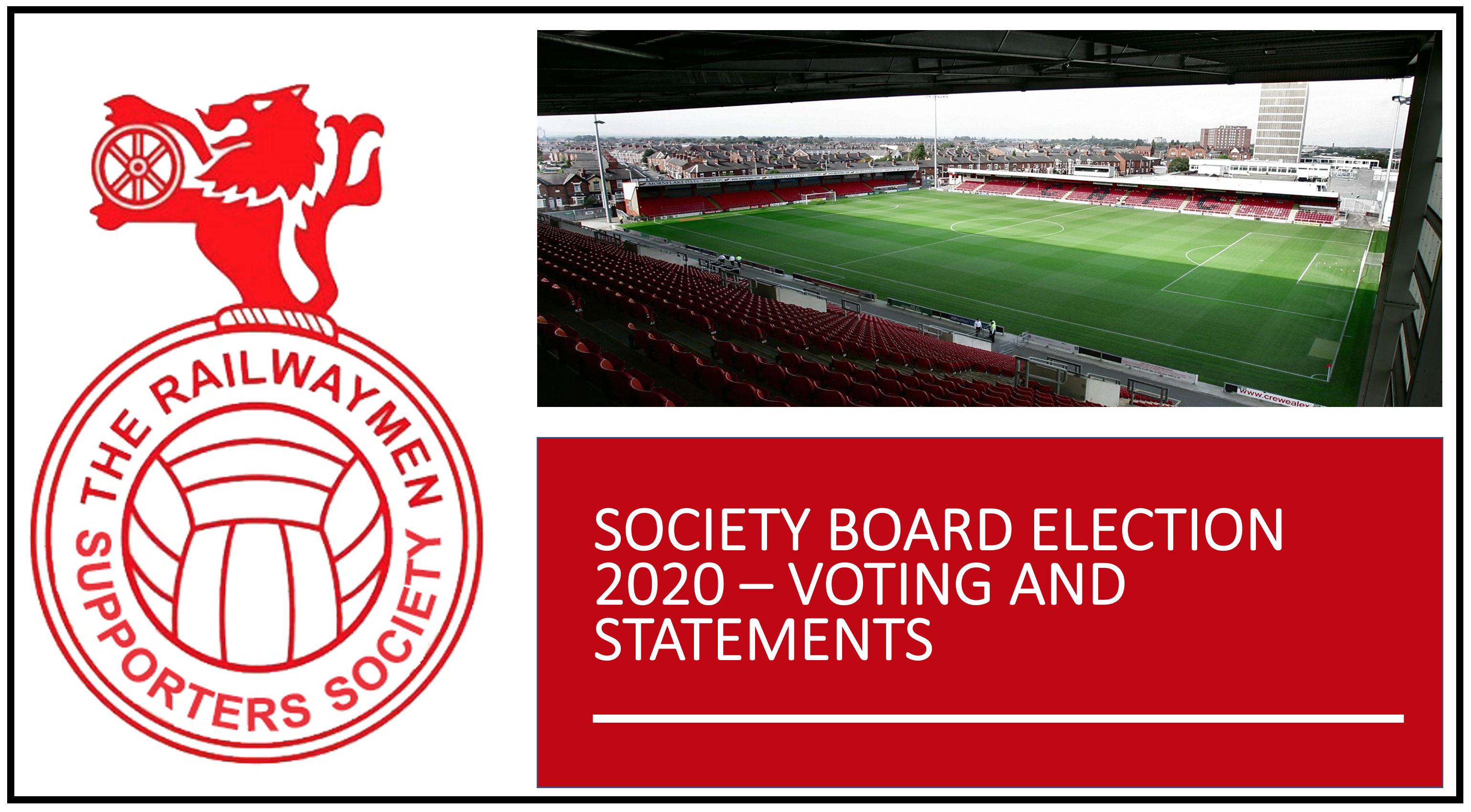 SOCIETY BOARD ELECTION 2020 – VOTING AND STATEMENTS